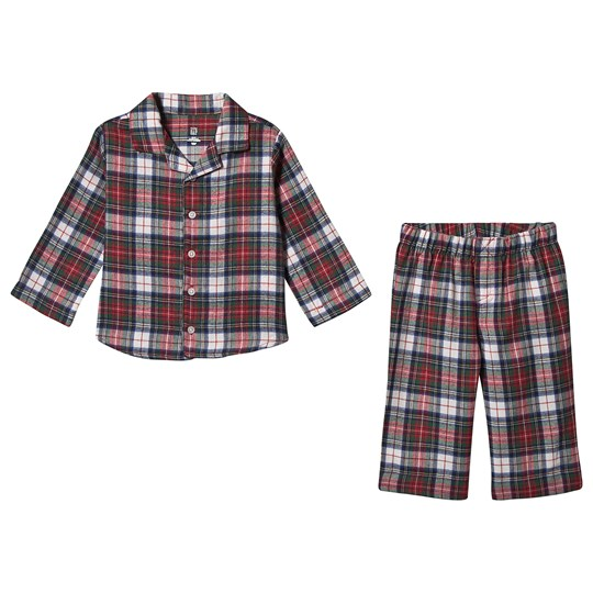GAP Pajamas Flannel Check Red IVORY FROST