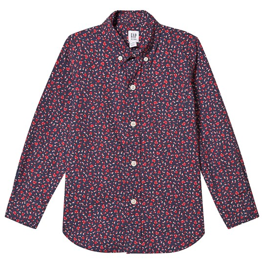 GAP Poplin Shirt Tapestry Navy/Red Tapestry Navy