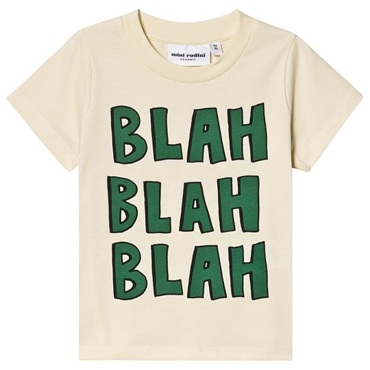 Mini Rodini Blah Tee Off White White