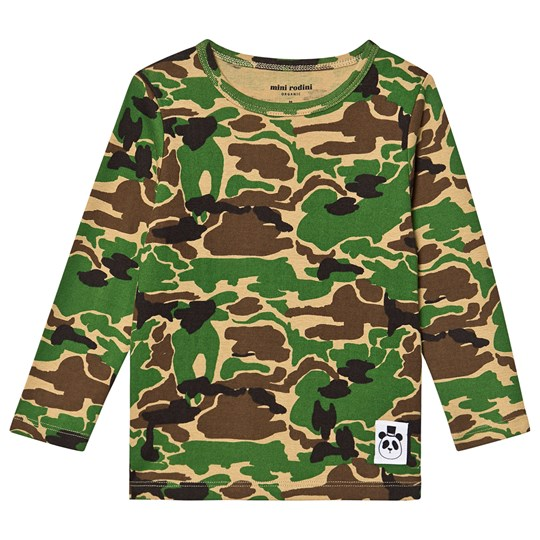 Mini Rodini Camo T-shirten i Grøn Green