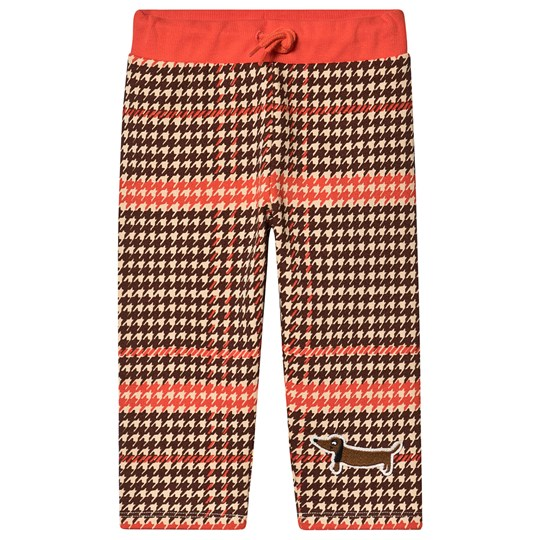 Mini Rodini Houndstooth Sweatpants Red Red