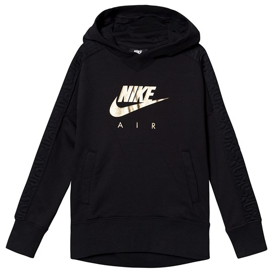 NIKE Pull Over Hoodie Black/Gold 010