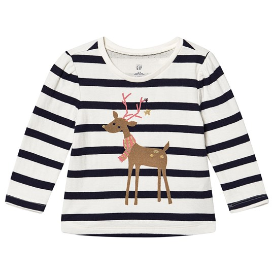 GAP Double Knit Reindeer Top Reindeer