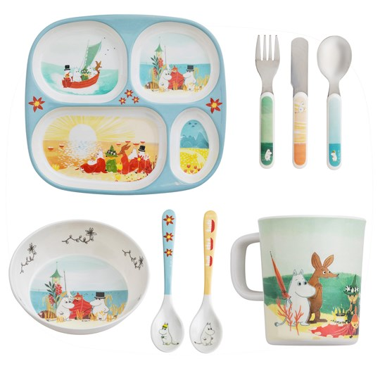 Moomin 5-Piece Table Set Moomin #VÅRTHAV White