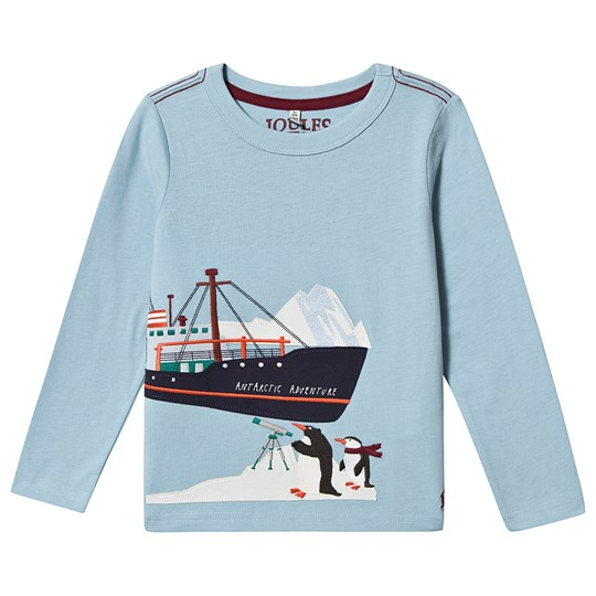 Tom Joule Jack Ship Applique Long Sleeve T-Shirt Blue Blue Ship