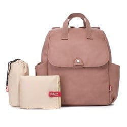 Babymel Robys Convertible Backpack Faux Leather Dusty Pink