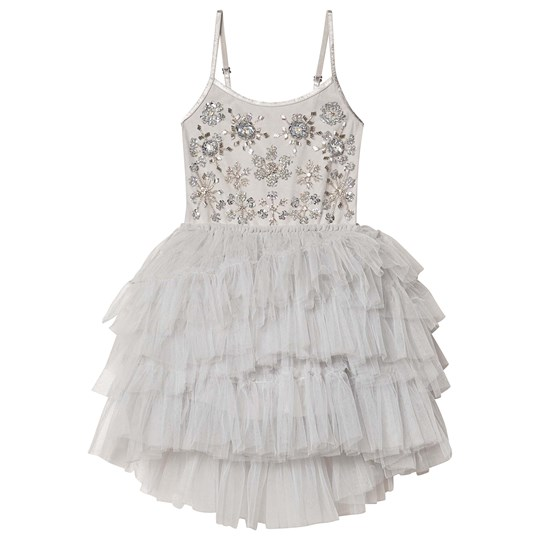 Tutu Du Monde Frozen in Time Embellished Tutu Dress Silver FRENCH SILVER