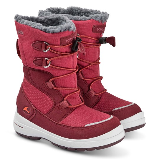Viking Totak Boots Dark Red Dark Red/Red