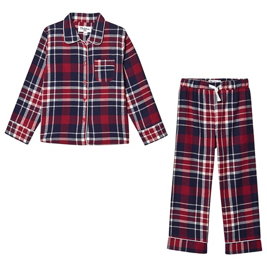 Christmas Kids Check Pyjamas Rød
