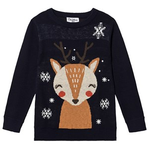 Image of Christmas Kids Rensdyr Sweater Blå 98/104 cm (1468941)