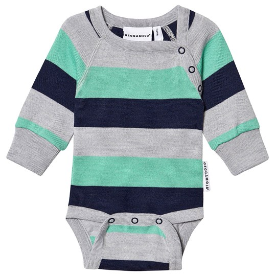 Geggamoja Striped Baby Body Green Green stripe