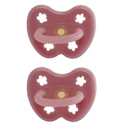Hevea 2-Pack Natural Rubber Pacifiers 3-36m in Watermelon