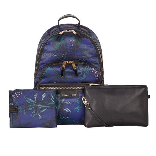 Tiba + Marl Elwood Changing Backpack Botanical BOTANICAL