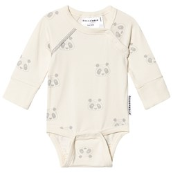 Geggamoja Panda Baby Body Off-white