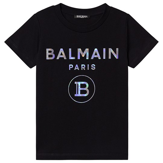 Balmain Hologram Logo Tee Black 930MC