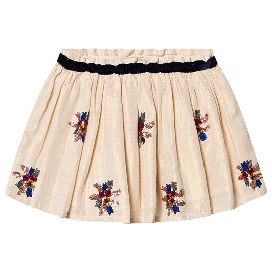 Bonton Jupe Tulle Embroidered Skirt Dore