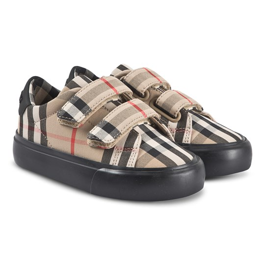 Burberry Vintage Check Sneakers Antique Yellow and Black A1189