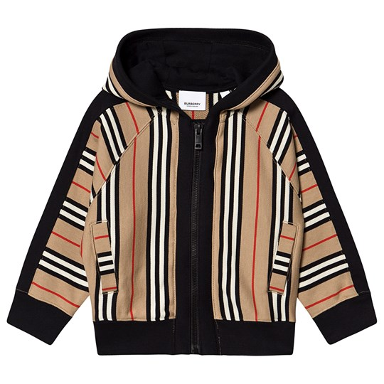 Burberry Icon Stripe Hoodie Archive Beige A7029