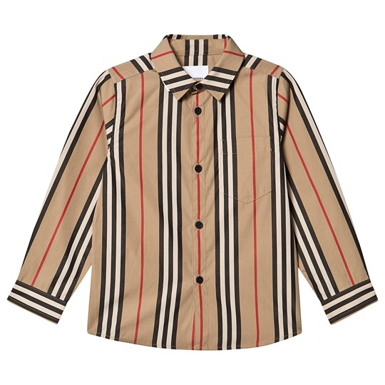 Burberry Icon Stripe Poplin Shirt Archive Beige A7029
