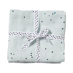 Done by Deer 2-Pack Dreamy Dots Swaddles Blue