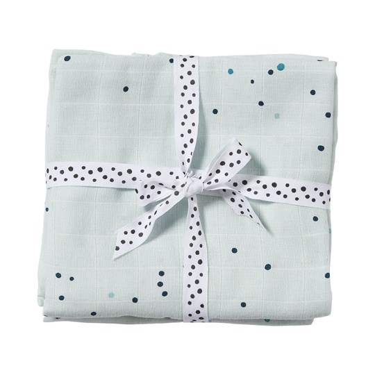 Done by Deer 2-Pack Dreamy Dots Swaddles Blue Blue