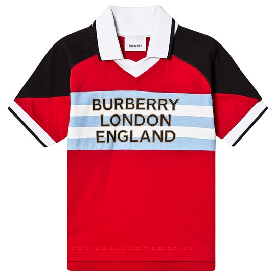 Burberry Logo Print Polo Bright Red A1460