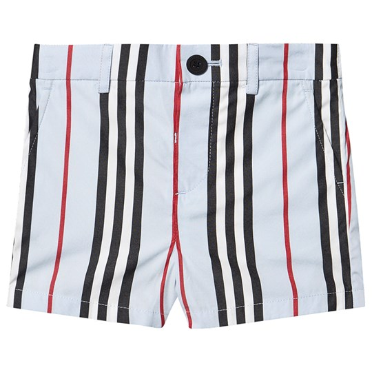 Burberry Iconic Stripe Shorts Pale Blue A1397