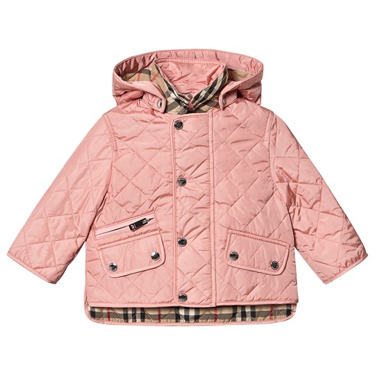 Burberry Diamond Quiltad Jacka Dusty Pink A1419