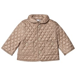 Burberry Diamond Quilted Jacket Walnut