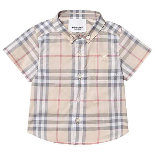 Burberry Check Infant Shirt Pale Stone A2205