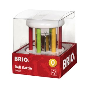 Image of BRIO BRIO® Baby – 30055 Bell Rattle Hvid One Size (1480140)