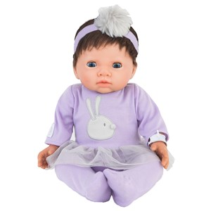 Image of Tiny Treasure Doll Blonde Hår Dukke med Lilla Outfit 3+ years (1469582)
