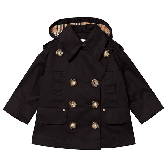 Burberry Hooded Trench Coat Black A1189