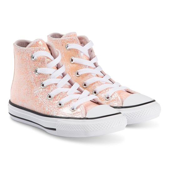 Converse Sparkly Chuck Taylor Hi Top Sneakers Barely Rose BARELY ROSE/BLACK/WHITE