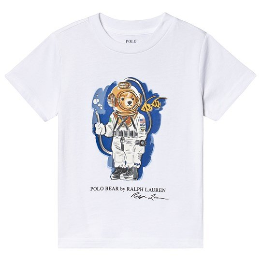 Ralph Lauren Astronaut Bear Short Sleeve Tee White 003