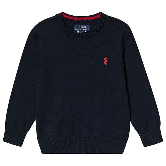 Ralph Lauren Bomuld Crewneck Sweater Hunter Blåt 010