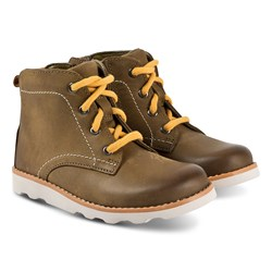 Clarks Crown Hike Boots Tan Leather