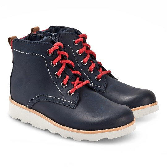 Clarks Crown Hike Kängor Navy Leather NAVY LEATHER