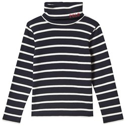 Ralph Lauren Polo Long Sleeve Tee Navy and White