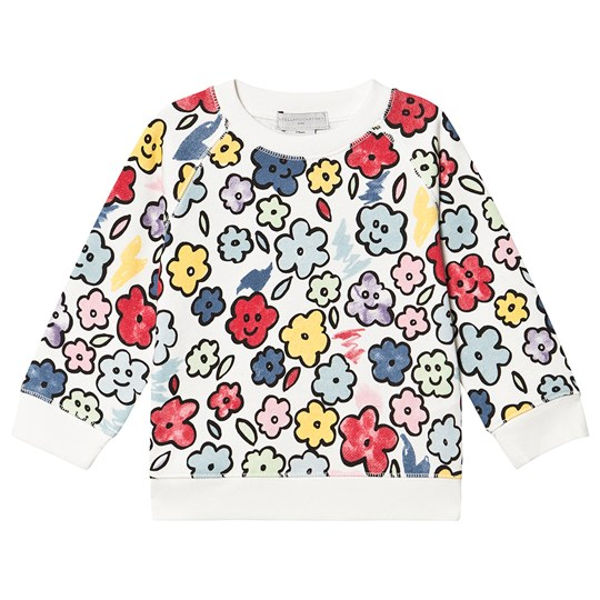 Stella McCartney Kids Smiling Flowers Genser Hvit/Multi 9238