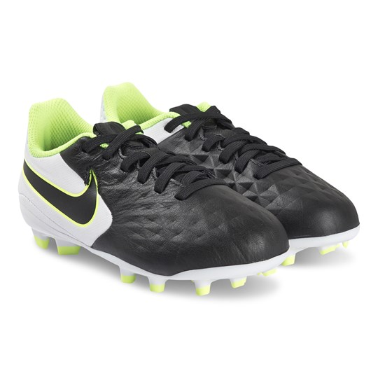NIKE Legend 8 Academy FG/MG Soccer Shoes Black and White 007