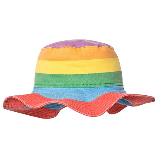 Stella McCartney Kids Denim Solhat i Rainbow Stripe 8489