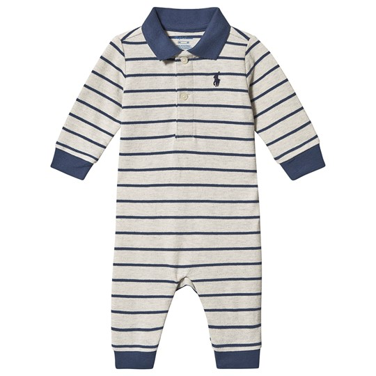 Ralph Lauren Stripe One-Piece Beige Heather 002