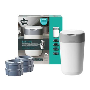 Tommee Tippee Sangenic Twist & Click Blespand Refill 1 + 4-p Hvid One Size