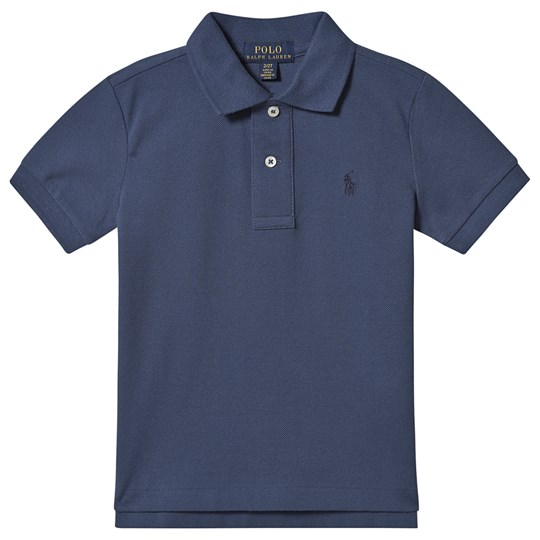 Ralph Lauren Blue Short Sleeve Polo with Small PP 040