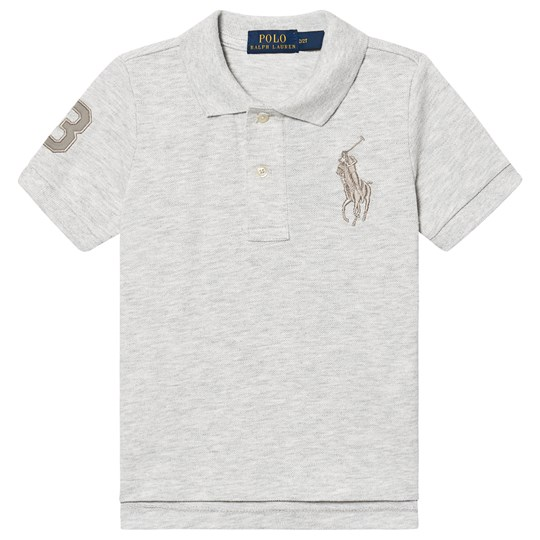 Ralph Lauren Big Logo Pikétröja Grå Heather 049