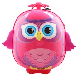 Best Time Toys Owl Suitcase Pink