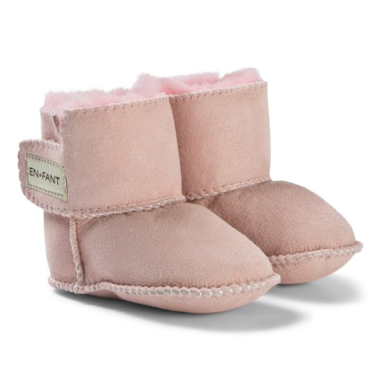 EnFant Sheepskin Booties Pink Pink