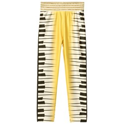 Raspberry Plum Piano Leggings Yellow
