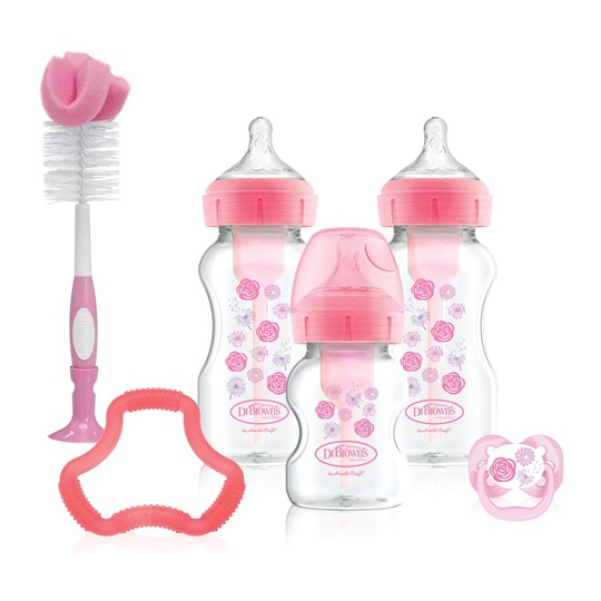 DrBrown's Options+™ Wide-Neck Feeding Bottle Set Pink Pink